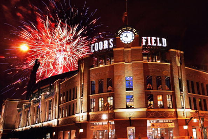 Coors Field Fireworks
