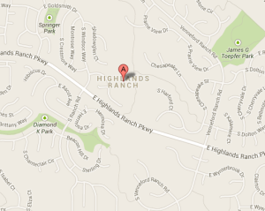 Highlands Ranch, CO Map