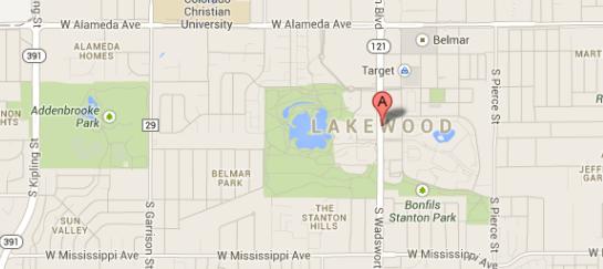 Lakewood, CO Map