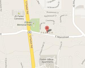 Parker, CO Map