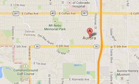 Aurora, CO Map