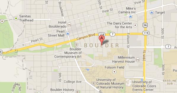 Boulder, CO Map